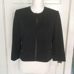 Calvin Klein Round Patch Pocket Black Blazer, 6